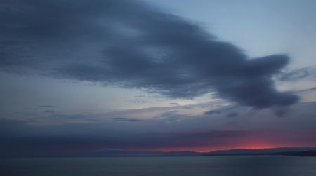 inspiring: Inspiring sunset over sea. Stock Photo