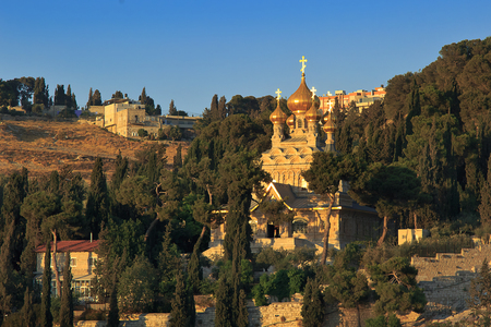 Maria Magdalena Church, Mount of Olives, Jerusalem Stock Photo