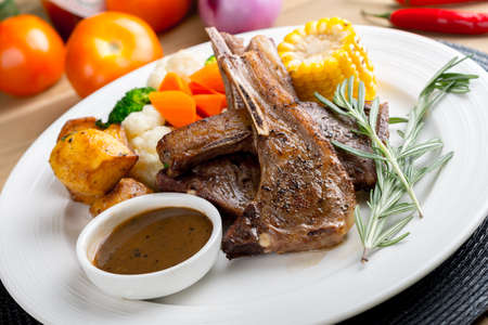 western food: western food with rosemary Stock Photo