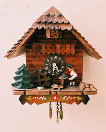 colour: Cuckoo clock Stock Photo