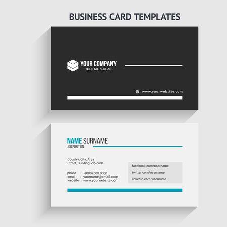 Modern Business Card Template. Stationery Design, Flat Design, Print Template, Vector illustration