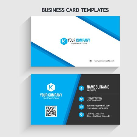 Modern Business Card Template. Stationery Design, Flat Design, Print Template, Vector illustration Vetores