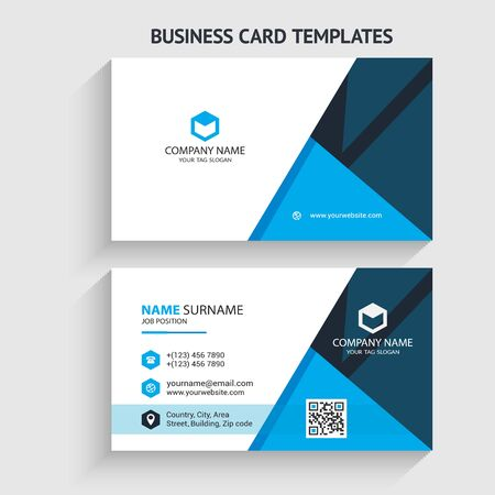 Creative and Modern Business Card Template. Stationery Design, Flat Design, Print Template, Vector illustration Ilustración de vector