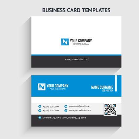 Kreative und moderne Visitenkartenvorlage. Briefpapierdesign, flaches Design, Druckvorlage, Vektorillustration