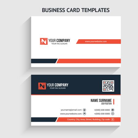 Creative and Modern Business Card Template. Stationery Design, Flat Design, Print Template, Vector illustration