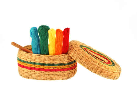 Multicolored threads for embroidery