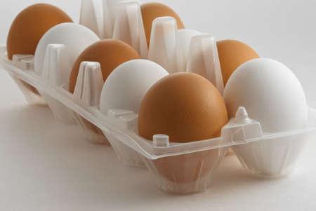 eastertide: Ten Eggs in a Box Stock Photo