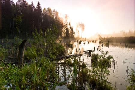 Morning fishing at the dawn Stock Photo - 4912270