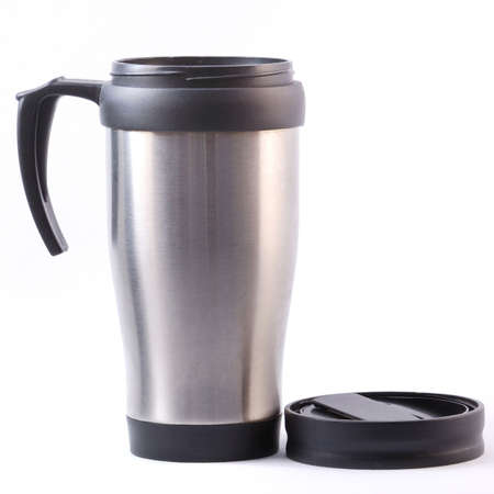 Heat protection coffee cup isolated on white