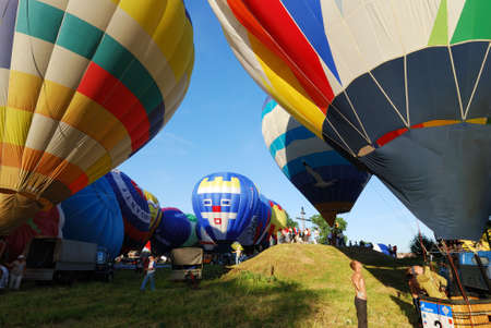 VELIKIE LUKI, RUSSIAN FEDERATION, JUNE 12 :Opening of the XVI-th International Balloon Meet, pilots preparing for mass-start  June 12, 2011 on Velikie Luki, RUSSIAN FEDERATION.  Editorial