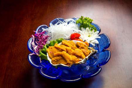 Fresh Uni Sea Urchin japanese food style
