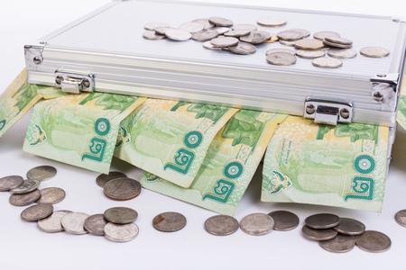 Thai money bath on ark Banque d'images