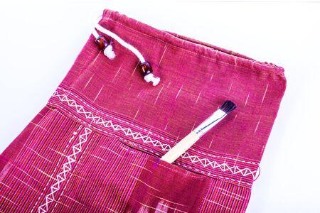 Red cotton pants Banque d'images