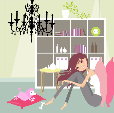 fashion vector: relax at home Illustration