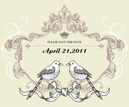 wedding card Stock Vector - 9436568