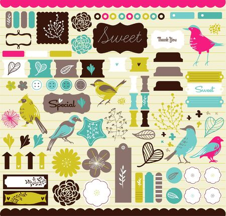 best bookmark tags and srcapbook elements Vector