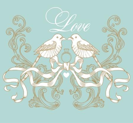 wedding card Stock Vector - 9427581