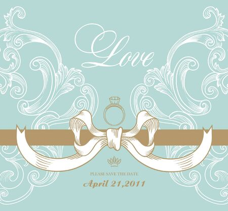 sweet garden invitation card Vector