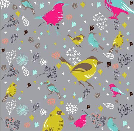 bird wallpaper best for fabric prints Vector