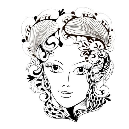 fantasy: fantasy abstract flower girl