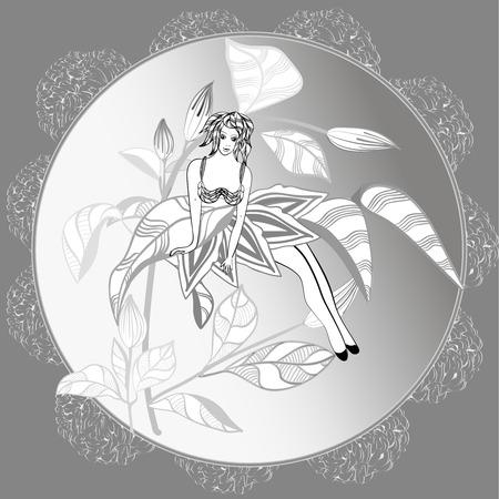 fantasy: fantasy abstract girl Illustration