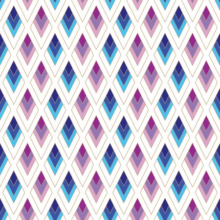vector illustration.blue and purple shaded diamonds seamless repeat pattern.best for backgrounds and wallpapers.