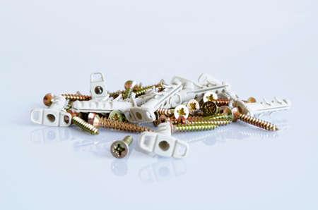 anodized: Tornillos de cilindrada y anodizado enmarcan Macro Close-up