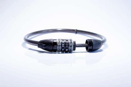 quandary: A close up of bike combination lock