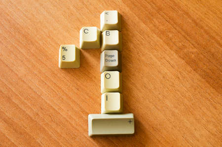 Number one with keyboards buttons photo