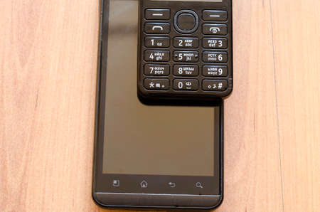 mobiele telefoons: Mobile Telephones - smartphone and old mobile telephone