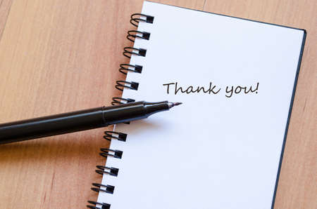 thank you note: Schedule Notepad Thank you note