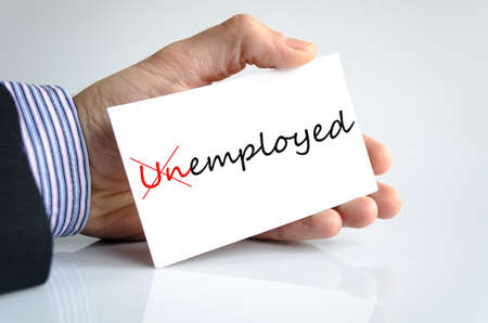 unemployment rate: Unemployed Concept Isolated Over White Background