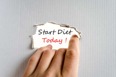 Start Diet Today Concept Isolated Over White Background photo