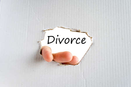 divorcing: Divorce Concept Isolated Over White Background