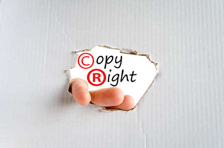 pirating: Copyright Concept Isolated Over White Background