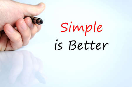 better: Simple is Better Concept Isolated Over White Background Stock Photo