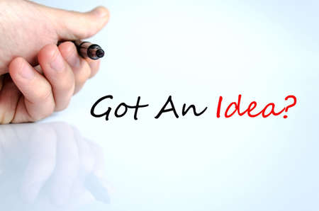 winning proposal: Got An Idea Concept Isolated Over White Background