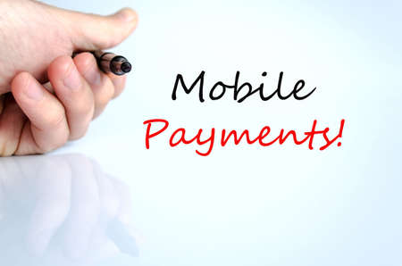 Mobile Payments Concept Isolated Over White Background photo