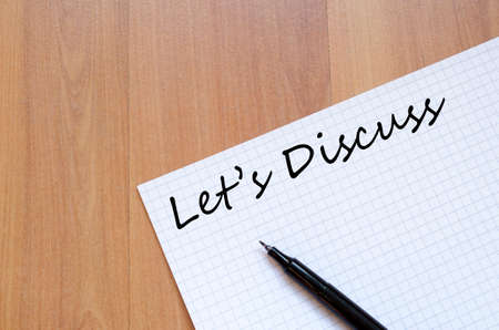 Let's Discuss Concept Notepad Stok Fotoğraf - 38925176