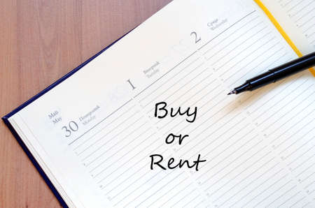 first time buyer: Buy or Rent Concept Notepad