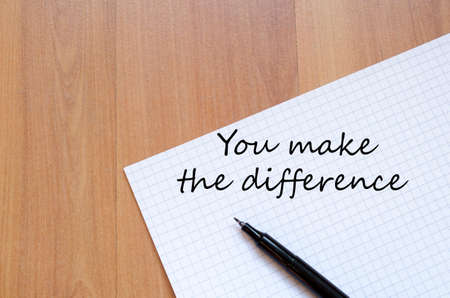 You make the difference concept notepad Stok Fotoğraf - 38924959