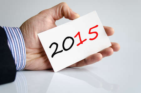 bussines: Bussines man hand writing 2015