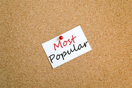 Sticky Note On Cork Board Background Most Popular Concept photo