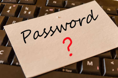 Password Concept on black keyboard Stock Photo
