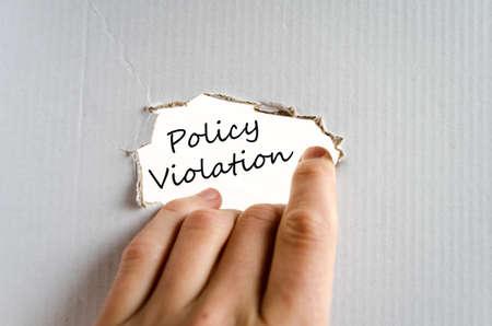 violation: Concepto de mano Política de Violación aislado más de fondo blanco