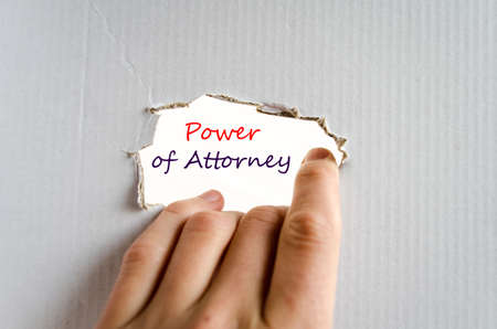 successor: Power of attorney text concept isolated over white background Stock Photo