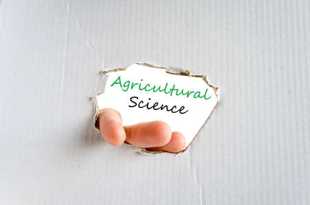 science text: Agricultural science text concept isolated over white background