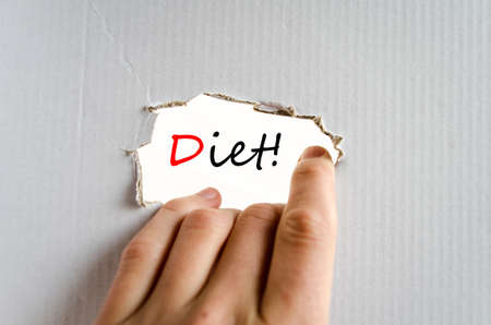 nutricion: Diet text concept isolated over white background Stock Photo