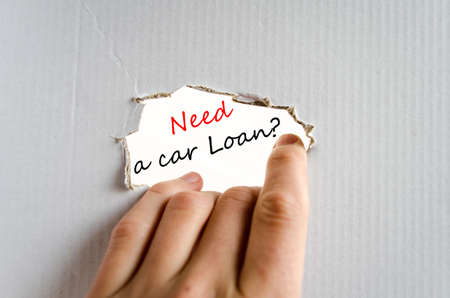 buying questions: Need a car loan text concept isolated over white background