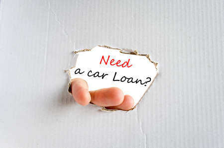 car loan: Need a car loan text concept isolated over white background